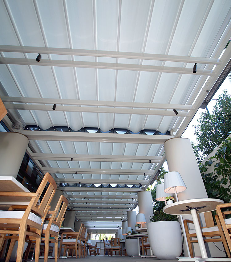 Retractable Patio Canopy at the Waldorf Astoria Beverly Hills